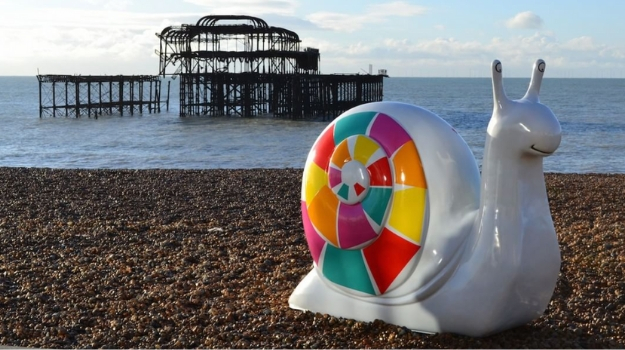 Giant snails take over Brighton and Hove!