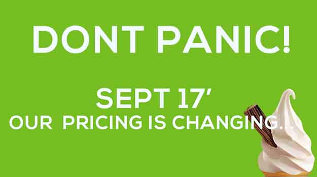 Our Pricing Is Changing in September