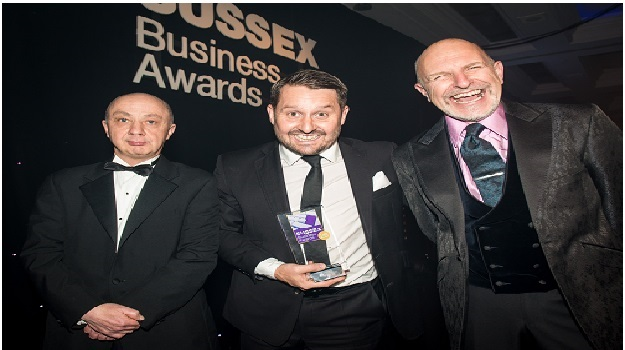 Gary at the Sussex Business Awards